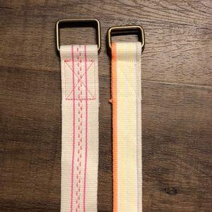 Accessories - 2 Canvas Belts NWOT